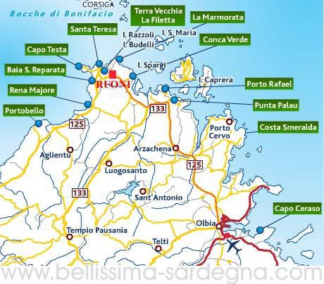 Cartina Spiagge Sardegna Nord.Guida Turistica Della Bellissima Isola Sardegna Per Voi